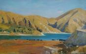 Горное озеро Казеной Ам в Чечне. х.м. 50х80. 2017
