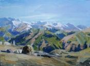 В горах Чечни. х.м. 60х80.2017