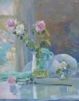Натюрморт с розами, 2016, 65х52, холст, масло