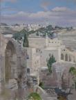 Иерусалим, 2014, 45х57, картон, масло