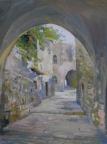 Армянский квартал в Старом Иерусалиме, 2014, 45х58, картон, масло