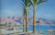 Пальмы Израиля, х.м., 40×60, 2018