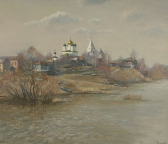 Весенний ветер  над Москвой-рекой, 1999,  60х70, холст, масло