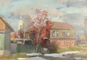 Ранний снег, 1992,  35х50, холст, масло