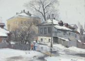 Улица Ивановская в Коломне, 2013, 50х70, холст, масло