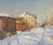Коломна. Улица  Дмитрия Донского, 1996,  55х65, холст, масло