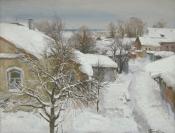 Снежная зима, 2013, 60х79, холст, масло