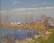 Излучина реки, 2003, 40х50, холст, масло