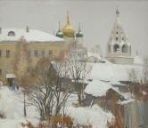 Свежий снег в Коломне,  1993, 60х70, холст, масло