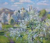 Цветущий май, 2016, 80х86, картон, масло