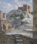 Крепостные стены, 2014, 48х55, холст, масло