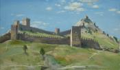 Судак. Старая крепость, 2014, 40х70, холст, масло