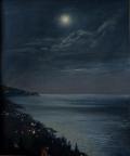 Луна над Крымом, 2015, 50х60, картон, масло