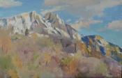Гора Ай-Петри, 2015, 40х60, картон, масло