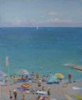 Ялтинский пляж, 2014, 60х50, холст, масло