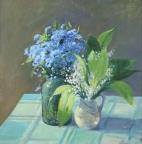 Лесные цветы, 2001, 49х48, холст, масло