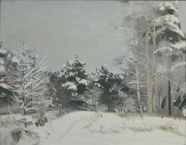 В зимнем лесу, 1997,  35х45, холст, масло