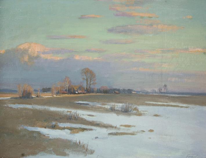 Сходит снег, 2008, 59х79, холст, масло