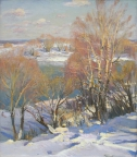 Снова зима, 2008,  80х70, холст, масло