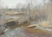 Весенний поток, 1984, 22х31, холст, масло
