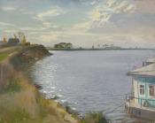 На берегах реки Оки, 1994,  66х83, холст, масло