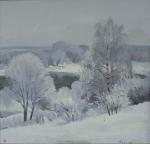 Настоящая зима, 2010, 60х63, холст, масло