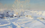 Мороз и солнце, 1994,  43х67. холст, масло