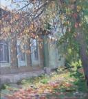 Опавшая листва, 2013, 40х45, картон, масло