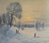 Зимний вечер, 1994, 70х80, холст, масло