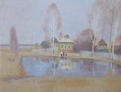Весна в деревне, 2004,  40х50, холст, масло