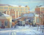 Раменское.  Старая фабрика, 1990,  105х125, холст, масло