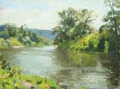 Река Осётр, 2014, 45х60, холст, масло