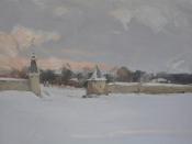 Зимой во Пскове, 2016, 40х60, холст, масло