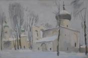 Спасо-Преображенский собор  Мирожского монастыря, 2016, 40х60, холст, масло