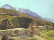 Таджикистан, 1987, 22х31, картон, масло